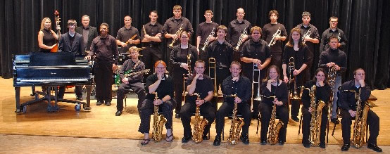 Jazz Band Group Photo with instruments