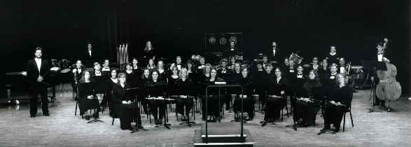 Ensemble group photo with instruments