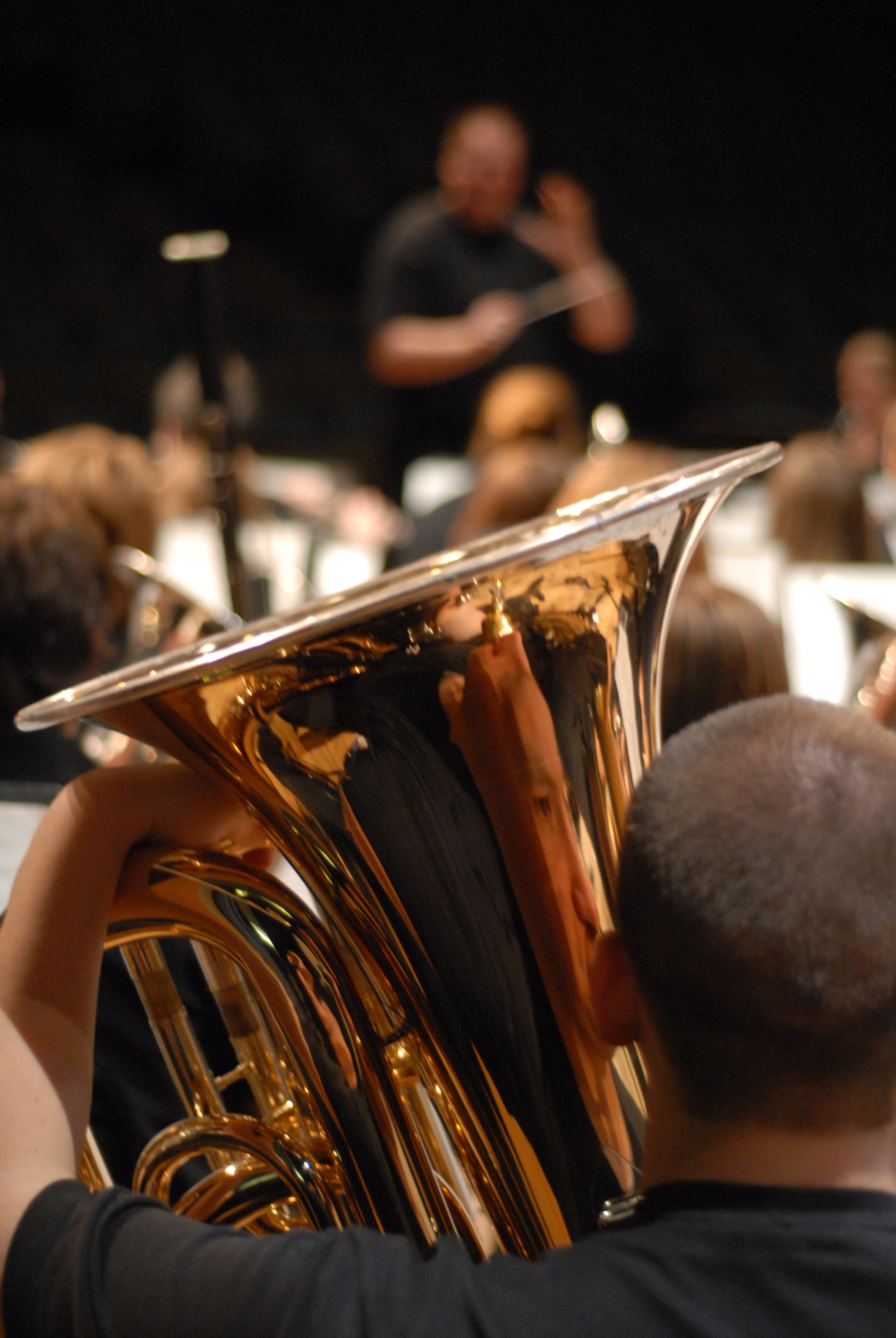 Photo of student playing the tuba